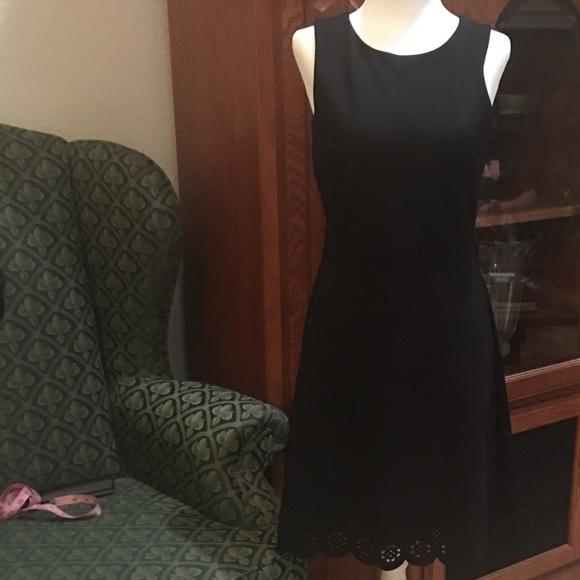 LOFT Dresses & Skirts - Laser-cut, ponte sleeveless a-line jumper dress!